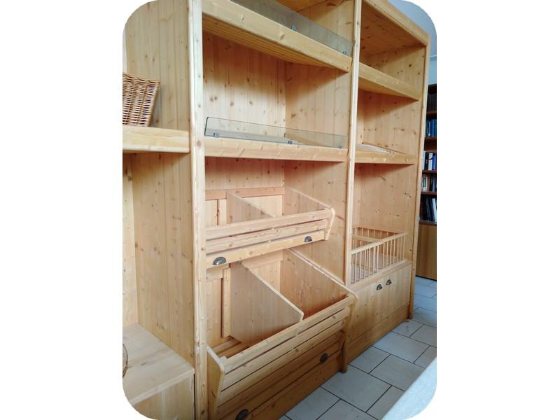 Rustica arredi in legno per alimentari panetteria frutta for Arredi in legno