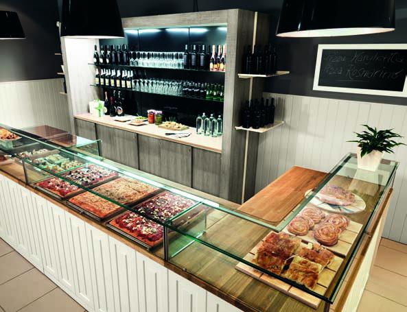 Arredamento negozi per focaccerie e pizza da asporto for Arredamento pizzeria moderno