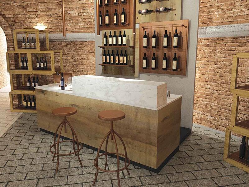 Wine bar al ticino for Scaffali arredo