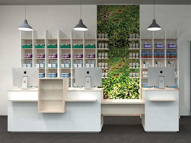 Pharma contemporary arredi per negozi farmacie e profumerie al