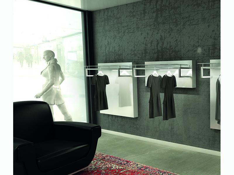 Tendenza 6 arredo negozio minimale con luci led al ticino for Arredi per negozi abbigliamento