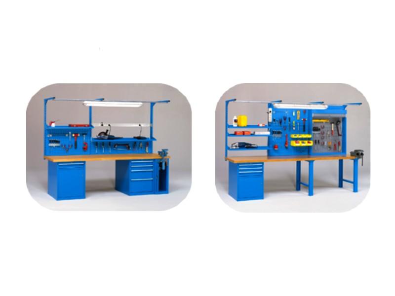 Banchi Da Lavoro Per Pelletteria : Banchi da lavoro work con piani legno