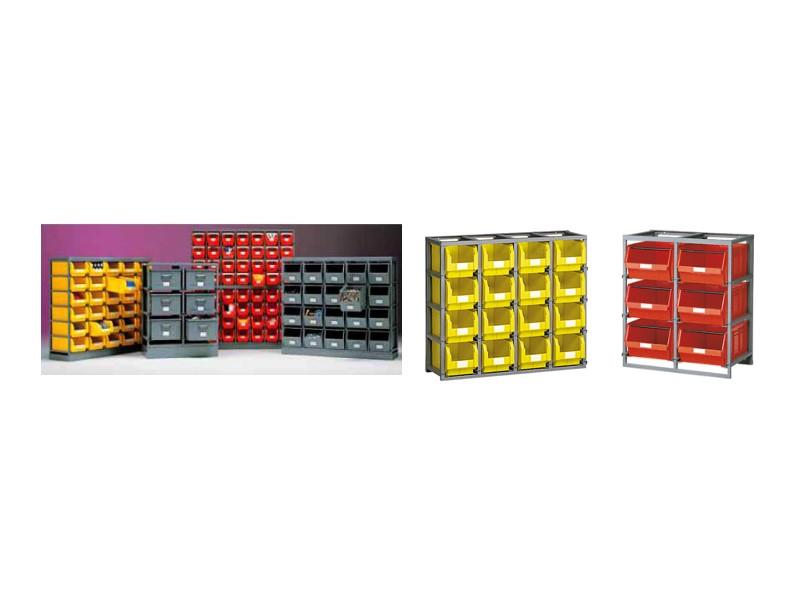 Scaffalature E Contenitori.Scaffali Porta Cassette E Contenitori Plastica